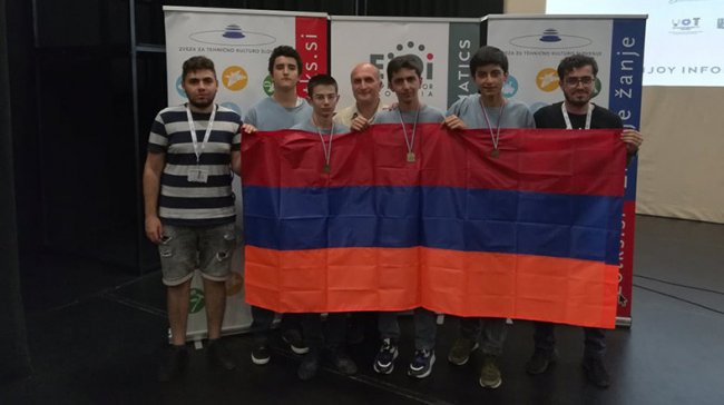 Armenia conquers gold and two bronze medals at European Junior Olympiad in Informatics