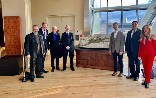 Tatev Monastery Complex miniature and 15-16th century Armenian cross-stonereplica exhibited for the first time in Washington D.C.